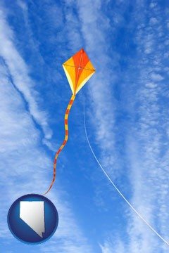 flying a kite - with Nevada icon