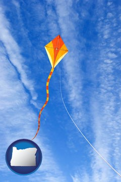 flying a kite - with Oregon icon