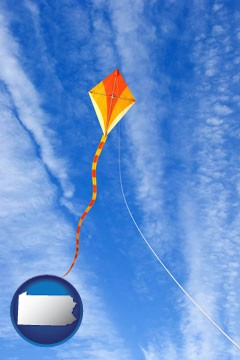 flying a kite - with Pennsylvania icon